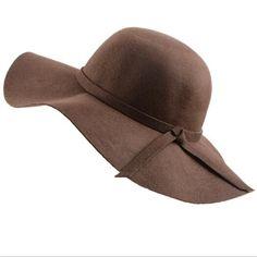 Colors)High Quality Wool Fashion New Vintage Women Ladies Floppy Wide Brim  Wool Felt Fedora Cloche Hat Cap Item Type  FedorasPattern Type   SolidDepartment ... 3590045201d8