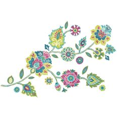RoomMates RMK2468GMBoho Floral Peel and Stick Giant Wall Decals – Frog Studio Home