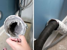 cleaning out dryer duct! We have started to do this more often now to prevent fires!