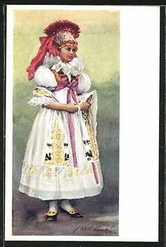 Folk Costume, Costumes, Beautiful Patterns, Hana, Embroidery, Fabric, Painting, Etchings, Bohemia