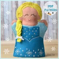 Felt Princess Elsa Hand Puppet, Frozen
