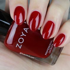 #ZoyaSheri: stay classy and steal the spotlight with this garnet red from the #ZoyaPartyGirls Collection! (Collection swatches are on SwatchAndLearn.com.) #EverydayZoya #Zoya #SwatchAndLearn #Nails #NailPolish