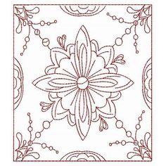 Quilt Blocks Redwork - Redwork - Designs by Technique   Machine Embroidery Designs