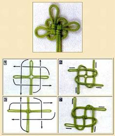 Good Luck Knot. This site has directions for many of basic Asian knots in diagrams