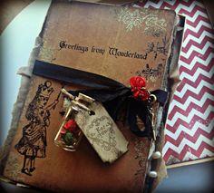 Wedding Invitations Alice in Wonderland Invitation by ShabbyScrap, $15.00
