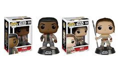 Funko POP Star Wars The Force Awakens: Finn and Rey 2 Piece BUNDLE