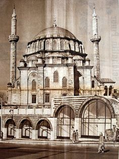 1960s.Laleli Mosque-Istanbul.  was  built, in 1759-1763, by Architect Tahir Aga for III. Mustafa Sultan when the Baroque style was fashionable in the Ottoman Empire. Colorful marble, instead of tiling, is the dominant element in this mosque, which features a huge central dome and stained-glass windows.
