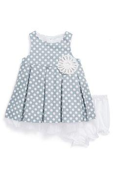 Darling #grey polka dot dress for baby girls http://rstyle.me/n/hbnnmnyg6