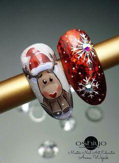 Nail Art Noel, Xmas Nails, Winter Nail Art, Christmas Nail Art, Winter Nails, Simple Nail Art Designs, Winter Nail Designs, Christmas Nail Designs, Cute Nail Designs