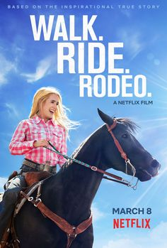 Original Netflix Drama Based on a True Story Walk. The incredible true story of - a nationally ranked rodeo who defies the odds after barely surviving a car that leaves her from the waist down. Movie Night Party, Family Movie Night, Family Movies, New Movies, Movies To Watch, Good Movies, Movie Nights, Rodeo Movies, Horse Movies