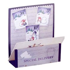 7.5 Wooden Special Delivery Snowman Christmas Card Holder