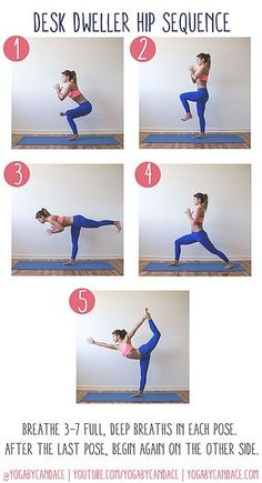 Desk Dweller Hip Sequence | YOGABYCANDACE | Bloglovin'