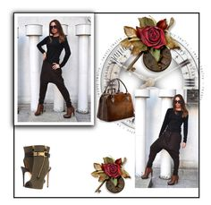 Brown Trousers by EUGfashion by eug-fashion on Polyvore featuring polyvore, fashion, style, Giuseppe Zanotti, Aspinal of London, clothing and EUGfashion