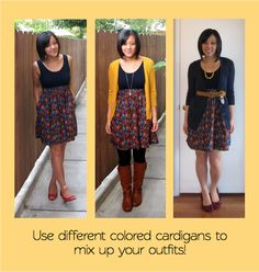 Building a Remixable Wardrobe, Cardigans