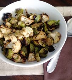 Healthy Side Dish: Roasted Cauliflower and Brussels Sprouts from Tori Tait on the Family Economics blog from SC Johnson. Photo courtesy of Tori Tait.