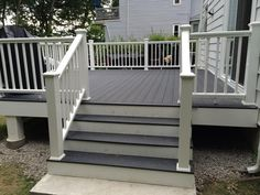 Deck makeover with Sherwin Williams Flagstone in solid ...