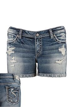 silver jeans co. � Aiko Destructed plus size shorts (original price, $69) available at #Maurices