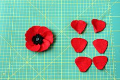 Quirky How To: Felt Poppies - Quirky Sewing Felt Patterns, Macrame Bracelets, Peyote Stitch, Poppies, Templates, Beads, Sewing, Maci, Projects