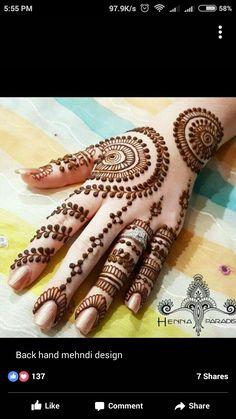 Hand Henna, Mehndi, Hand Tattoos, Design, Henna, Hennas