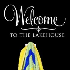 Could do...Welcome to the Goodman Home.....Welcome to the Lakehouse - customized wall graphic lettering art decal personalize old barn rescue company. $16.00, via Etsy.