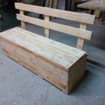 Pallet Bench With Storage