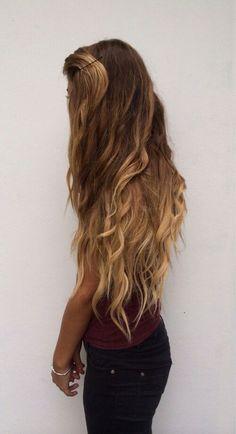 ombre long hair.