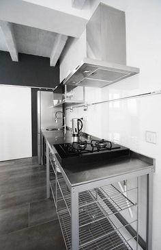 Industrial Flat Interior Design - Kitchen Set Design