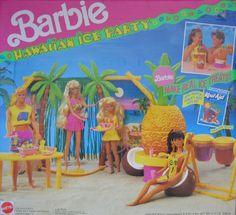 Barbie Hawaiian Ice Party Playset - KOOL-AID (1990) Barbie http://www.amazon.com/dp/B002EKBMJ2/ref=cm_sw_r_pi_dp_VrlOtb1E3R7W95Y6