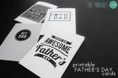 Free Printable Graphic Father's Day Cards @ mintedstrawberry.blogspot.com