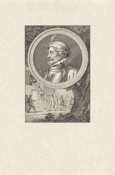 Reinier Vinkeles   Portret van Wolfert I van Borselen, Reinier Vinkeles, Cornelis Bogerts, Jacobus Buys, 1783 - 1795   Portret van Wolfert I van Borselen, edele te Zeeland. Onder het portret de dood van Wolfert van Borselen door opstandige Delftenaren in 1299.