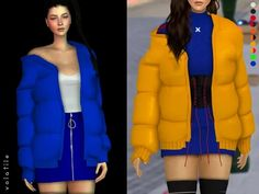 Jadia Oversized Puffer. - The Sims 4 Download - Volatile Sims
