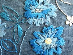 Hand embroidery on a really soft denim fabric... I made this as a sample.