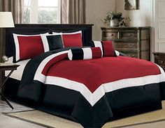 """Add Taste, Style & Comfort with this Luxury 7 Pc Design To Your Bedroom * Set includes, 1 Comforter 106""""x 94"""", 2 Shams 20""""X36""""+2"""", 1 Bed Skirt 72""""X84"""" and 3 Dec Pillows, * Complete the set with our quality Sheets, all sizes , check out our storefront. * Matching curtains are available and listed separate. * (Placed within the Amazon Associates program) * 06:40 Mar 18 2017"""