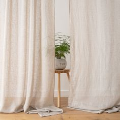 The Garza curtain with rod pocket is a super-light curtain with a delightfully sheer quality. It hangs beautifully and will add a simple elegance to your interior. Rod Pocket Curtains, Linen Curtains, Curtain Fabric, Simple Elegance, Elegant, Curtain Lights, Natural Materials, Textiles, Luxury