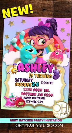 ABBY HATCHER BIRTHDAY, ABBY HATCHER PARTY IDEAS, ABBY HATCHER INVITES, ABBY HATCHER INVITATION, ABBY HATCHER INVITATIONS, ABBY HATCHER BIRTHDAY INVITATIONS Paris Birthday, 3rd Birthday, Birthday Parties, Kid Parties, Birthday Ideas, Birthday Invitations Kids, Birthday Party Decorations, Invites, Digital Invitations