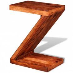 Solid-Wood-Z-Shaped-Side-Table-Sheesham-Wood-Home-Office-Coffee-Tea-Desk-Help