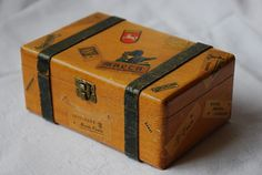 Suisse Vintage voyage tronc affaire bijoux boîte par ScottishGoods