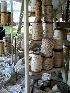 Ribbon and Button Goodness by justbekls, via Flickr