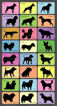 Dog Silhouette Cards | GraphicRiver