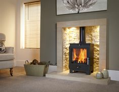 Buy Flavel Arundel Multifuel Wood Burning Stove securely online today at a great price. Flavel Arundel Multifuel Wood Burning Stove available today at Fireplace And . Home Living Room, Room Design, House, Home, Fireplace Hearth, Inglenook Fireplace, Fireplace Design, New Homes, Log Burner Living Room