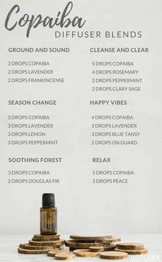 Copaiba diffuser blends