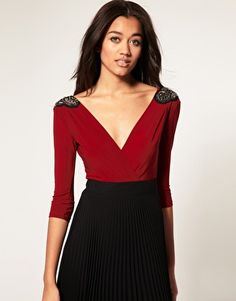 Embellished Shoulder dress