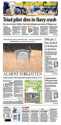 Front page Jan. 10, 2014 news-record.com