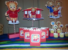 3 Daniel Tiger Centerpieces Trolly Daniel by PishPoshPartique