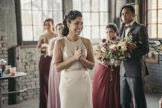 Real Weddings: Meet Angelina. Gown: Carol Hannah Custom | Jacket: Sequin Smoking jacket | Photography: Joshua Brown Photography