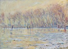 Claude Monet - The Skaters at Giverny, 1899