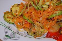 Mancare de dovlecei cu legume