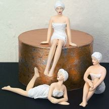 Mini Spa Girls, Set of 3 Collectible Resin Figurine Statues from Dr. Livingstone - Inside Out