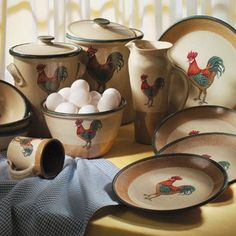 Rooster Dinnerware Dishes · Rooster KitchenRooster DecorCountry ... & Mustard Savannah Stoneware Dinnerware | POTTERY STONEWARE ...