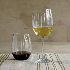 Ribbon Hand-Cut Wine Glasses | The Company Store